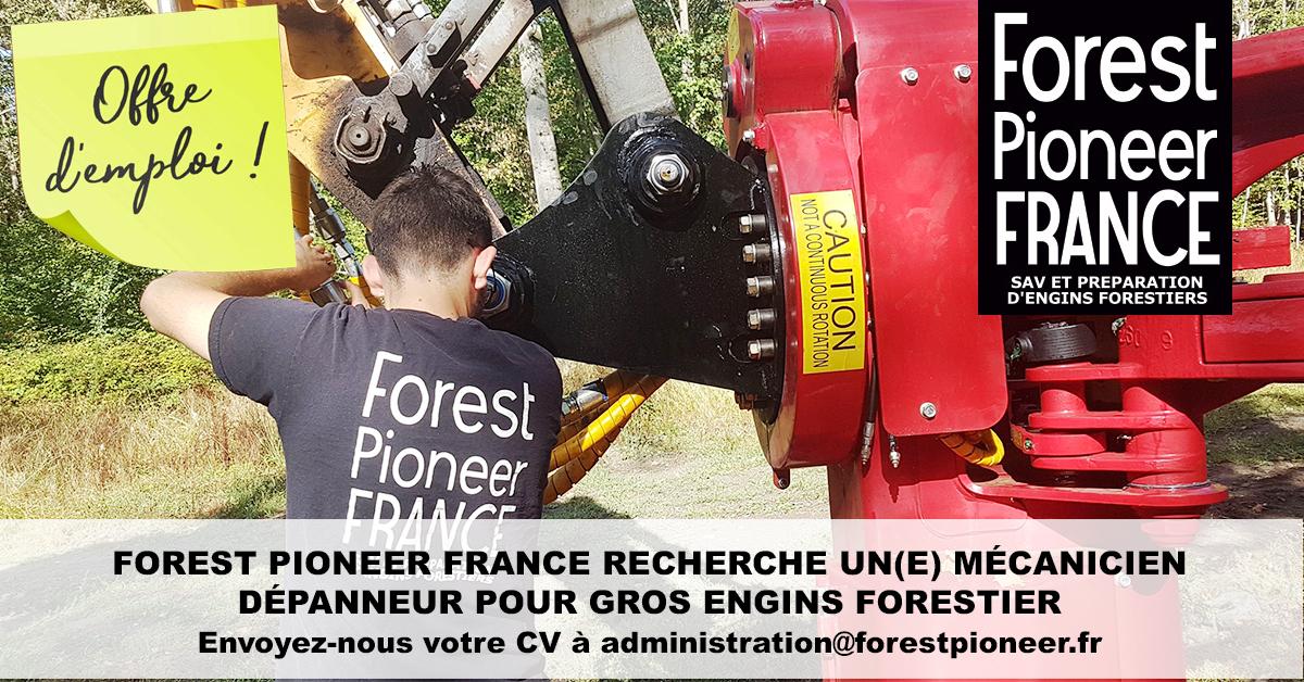 RECRUTEMENT MÉCANICIEN DEPANNEUR POUR GROS ENGINS FORESTIER