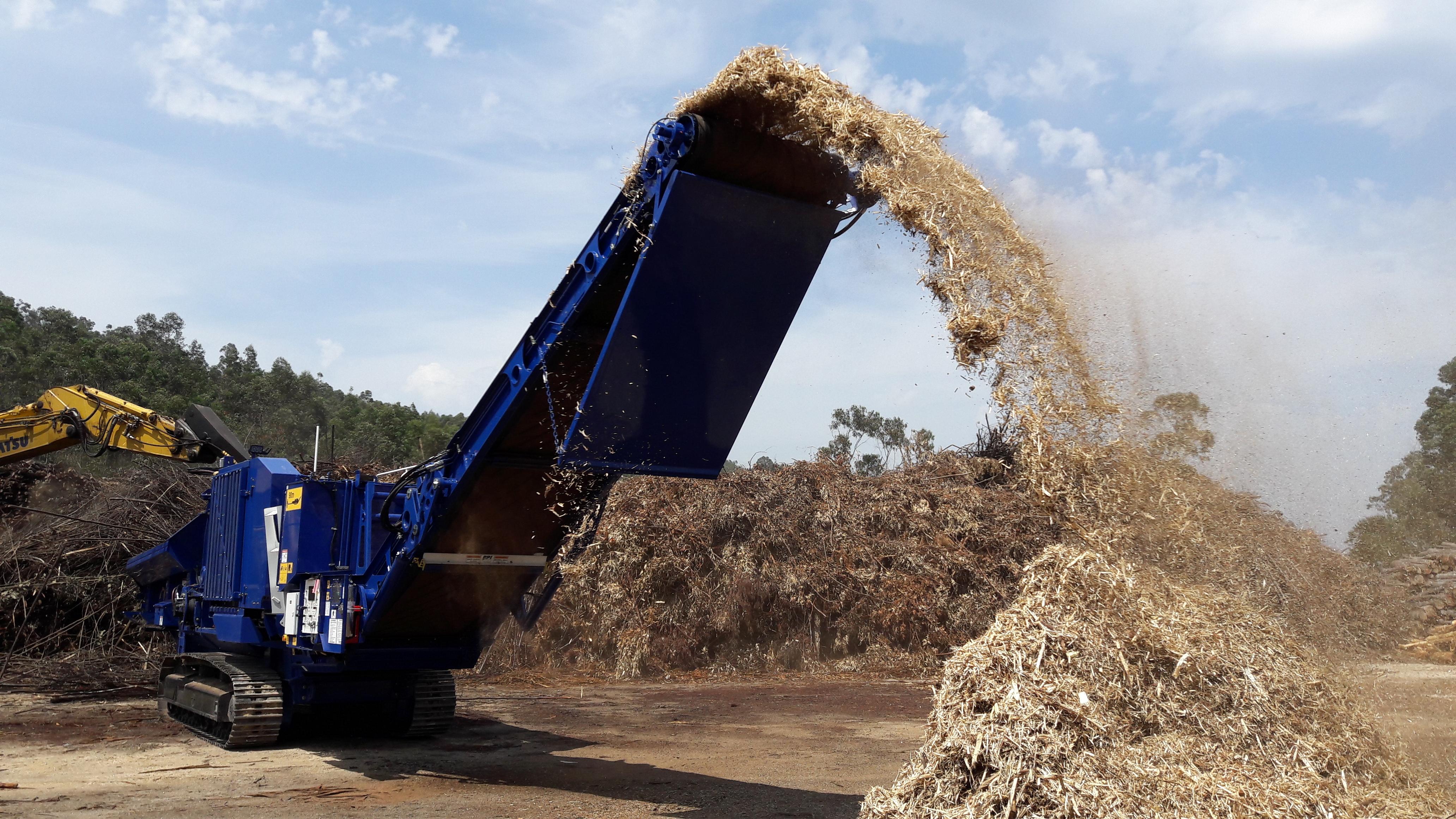 Équipement Pour La Préparation De La Biomasse Forestière Residuelle à Des Fins énergétiques.